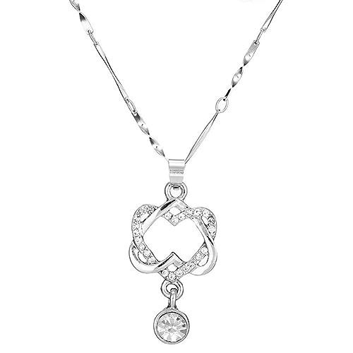 JXSTORE - Collar de aleación con Colgante de corazón ...