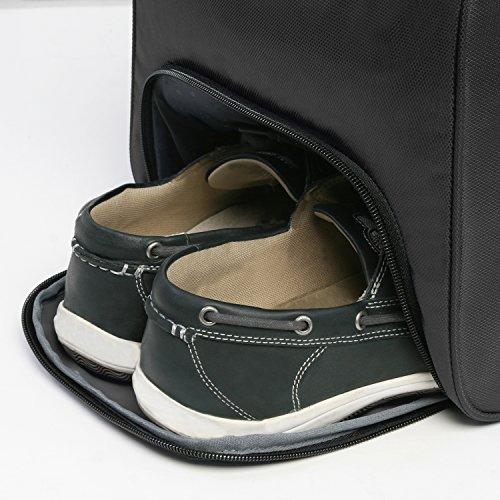 """5166UUeSrXL - Perry Ellis 22"""" Weekender Duffel Bag, Black"""