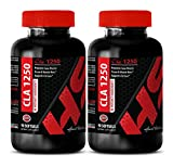 metabolism and energy - CLA 1250 Mg - FOR FAT LOSS - HI-POTENCY INGREDIENTS - cla health - 2 Bottles (120 Softgels)