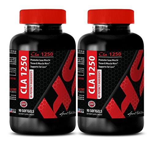 Immune Support Dietary Supplement – CLA 1250 Mg – for Fat Loss – HI-Potency Ingredients – cla Vitamins – 2 Bottles (120 Softgels)