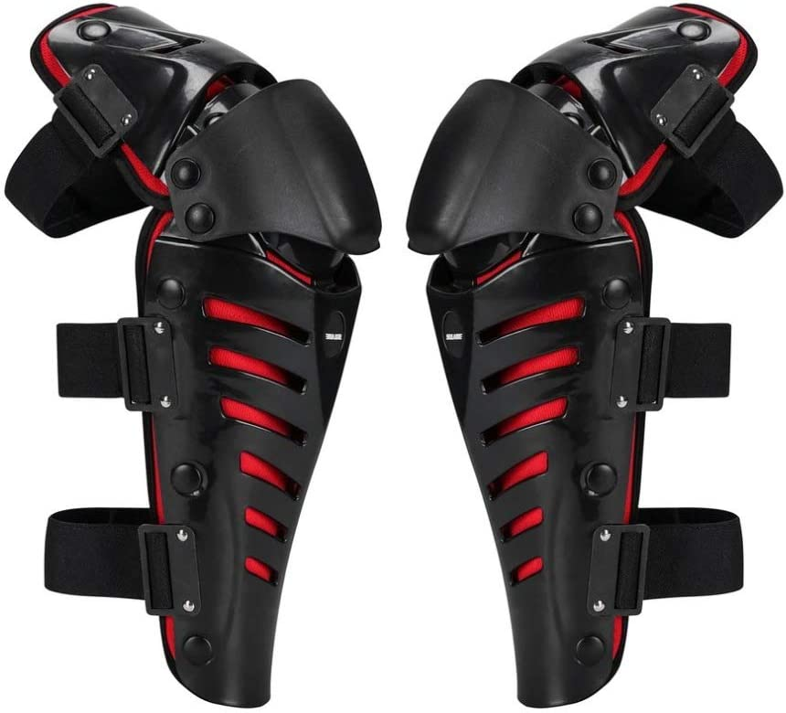 fxwl Protective Knee Pads 1 Pair Of Motorcycle Knee Pads Protect Motocross Motorcycle Riding Racing Protection Gear Protect Outdoor Sport Safety Pads Guards