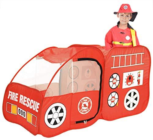 Ankecity Fire Engine Truck Pop-up Play Tent Kids Pretend Playhouse