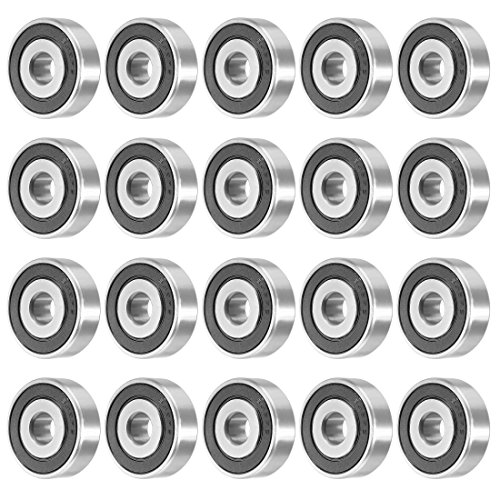 uxcell 638RS 8mmx28mmx9mm Double Sealed Miniature Deep Groove Ball Bearing 20pcs by uxcell