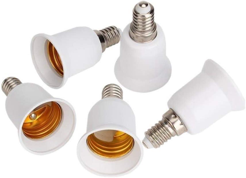 Douille E27 a Vis Plastique pour Lampe Murale Couleur Blanche R/ésister /à 500/°C Porte-lampe E27 pour Veilleuse//Plafonnier lot de 4 Douille E27 Plate avec Bague E27 Base avec Support