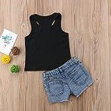 2Pcs/Set Fashion Toddler Kids Baby Girl Sleeveless