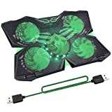 Best Laptop Cooler With Usb Ports - ARyee 5 Fans Adjustable Laptop Cooling Pad Review