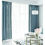 Curtain Finished Simple and Modern net red Nordic Style Stitching Blackout Bedroom Room Cloth (Size : 2.5 * 2.7m)