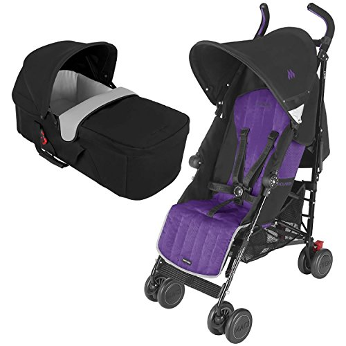 Maclaren Quest Stroller With Black CarryCot (Black Majesty)