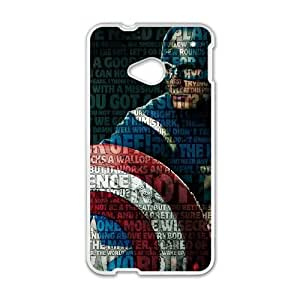 Captain America HTC One M7 Cell Phone Case White VC960N1N