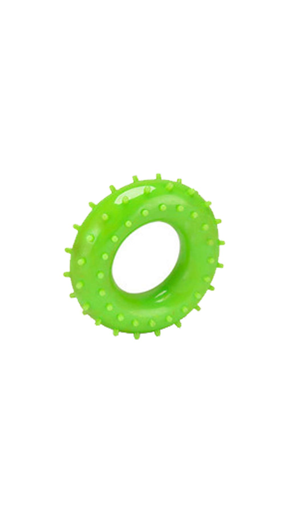 XinHeChengMai Environmental Protection PVC Grip Ring Middle-Aged Finger Rehabilitation Equipment Rubber Ring O-Type Grip Office Fitness Exercise(Green,60mm)