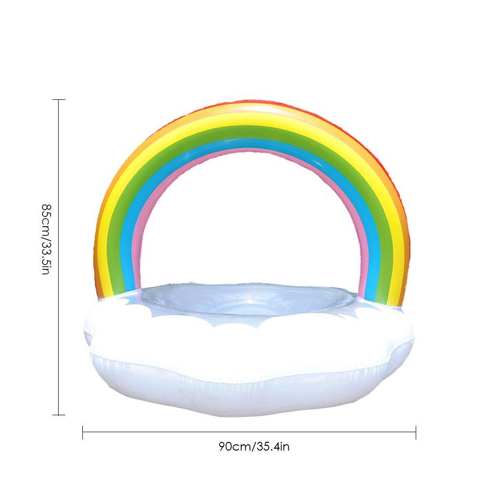 Gereton Anillo de Baño en Forma de Nube Hinchable Multicolor con ...