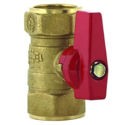 T&S Brass AG-7F Gas Appliance Connectors, Gas Ball Valve, 1-1/4""
