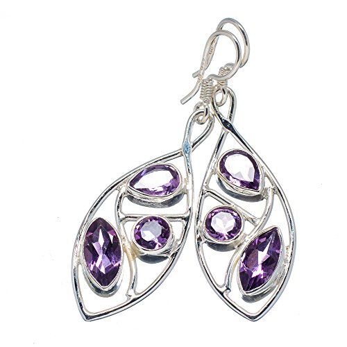 Ana Silver Co Faceted Amethyst 925 Sterling Silver Earrings 2