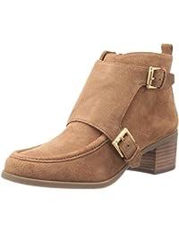 美亚:Anne Klein Jeffrey Suede 女款粗跟真皮踝靴, 现仅售.80