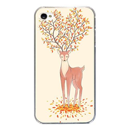 """Disagu SF-sdi-3815_1183#zub_cc3300 Design Schutzhülle für Apple iPhone 4S - Motiv """"Baumhirsch 04"""""""