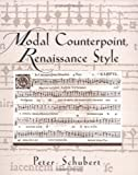 img - for Modal Counterpoint, Renaissance Style by Peter Schubert (1999-05-13) book / textbook / text book