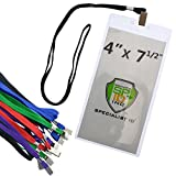 ticket pouch lanyard - Special Event 4X7 Extra Large Ticket Holders with Lanyards for Pit Passes and Playoff Games (Pack of 10) (Assorted Colors)