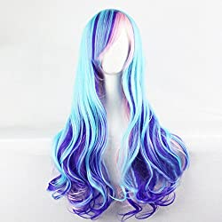 Blanna 28 Inch Long Wave Lolita Wigs Sexy Hair High-Temperature Synthetic Fiber with Bangs Wigs for women