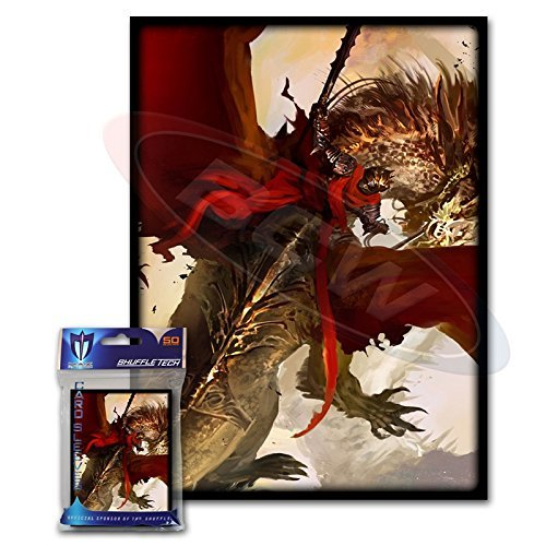 Duel Masters Trading Cards - (200) Max Protection Crimson Rider Design Large Gaming Trading Card Protector Sleeves for Magic the Gathering, Pokemon, World of Warcraft, Kaijudo Duel Masters and Cardfight Vanguard Cards