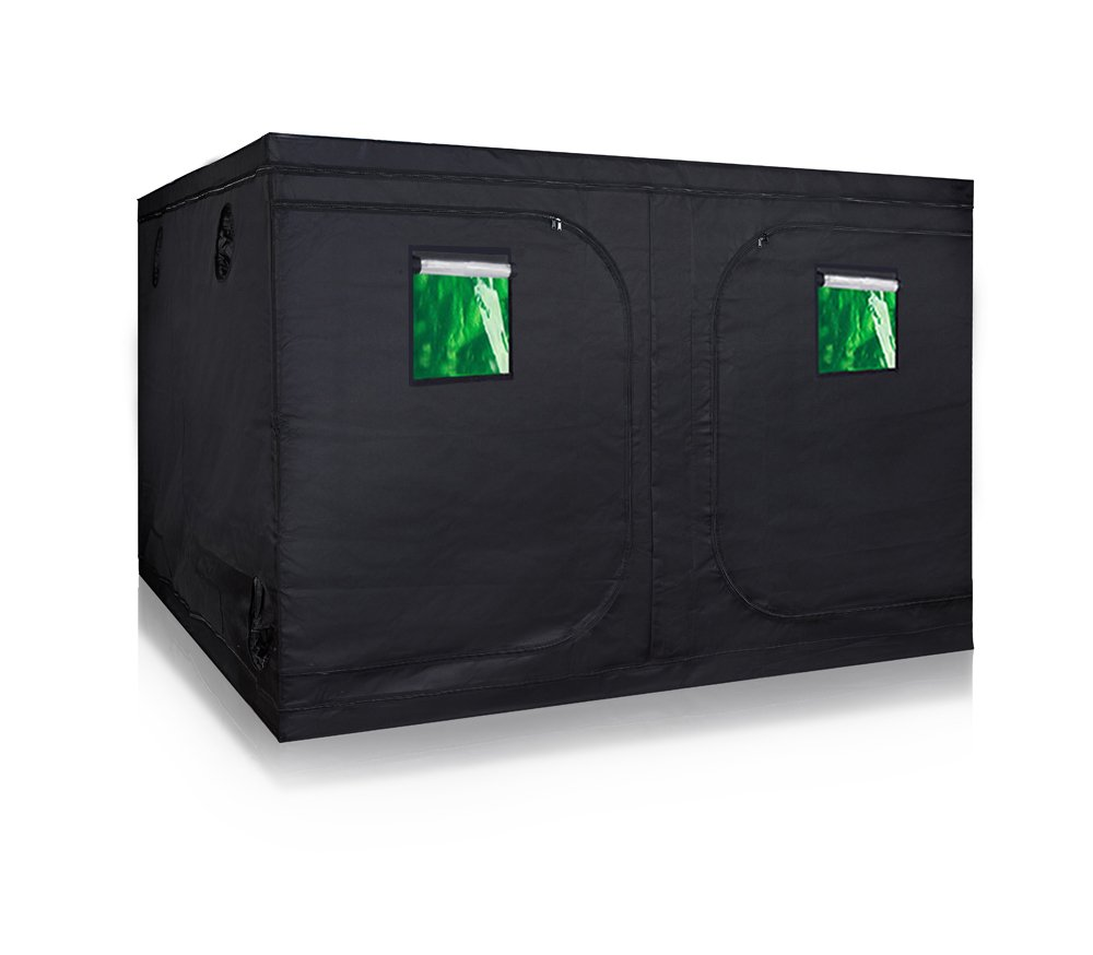TopoGrow Super Big 120''x120''x78'' Grow Tent 600D High-Reflective Hydroponic Grow Room/Hut System Kit for Plant Growing W/Metal Corners