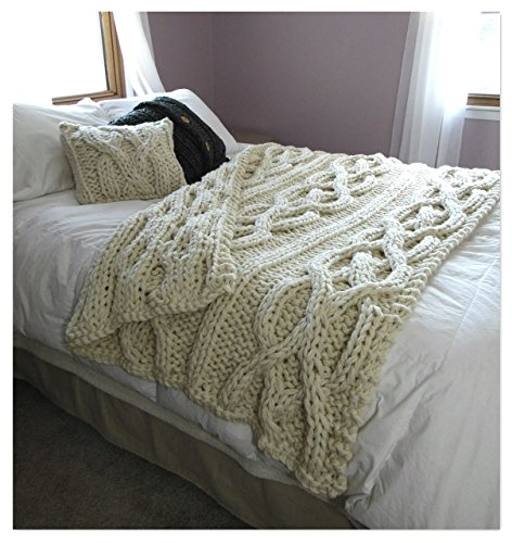 Luxury Oversized Cable Knit Blanket- MADE TO ORDER