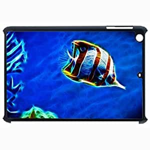 Customized Back Cover Case For iPad Air 5 Hardshell Case, Black Back Cover Design Fish Personalized Unique Case For iPad Air 5