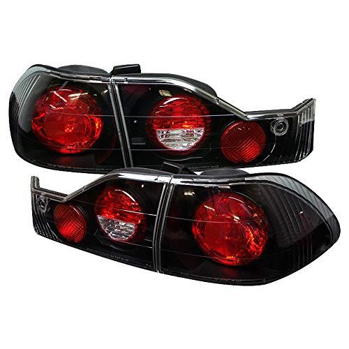 ACANII -For Black 1998 1999 2000 Honda Accord 4-Door Sedan Tail Lights Brake Lamps Left+Right Rear Driver Passenger Side