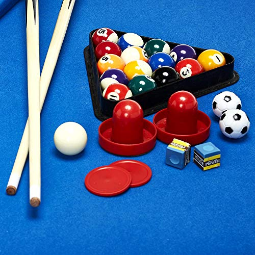 Lancaster 48 3 in 1 Pool Billiard Slide Hockey Foosball Combo Arcade Game Table