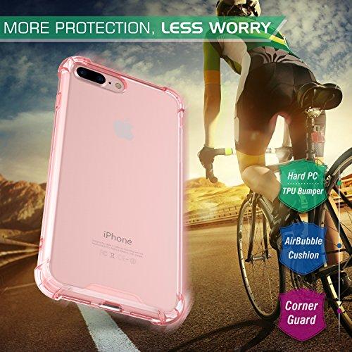 MoKo iPhone 8 Plus / 7 Plus Funda - Avanzado Ultra Delgado TPU de Parachoques Flexible Gel Shock Anti-arañazos Back Cover con Cool Pattern para Apple iPhone 8 Plus / 7 Plus, No Me Toques Rosa Clara