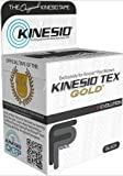 Kinesio Tex Gold Tape - 2'' W x 16.4' L - Extra Water Resistant - 6 Roll Box - Black