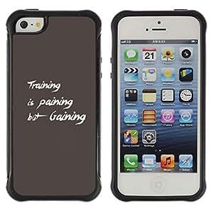 Be-Star único patrón Impacto Shock - Absorción y Anti-Arañazos Funda Carcasa Case Bumper Para Apple iPhone 5 / iPhone 5S ( Training Gaining )