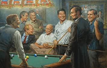 Republican presidents playing poker painting implied odds in poker