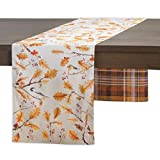 Maison d'Hermine Oak Leaves 100% Cotton Table Runner - Double Layer 14.5 Inch by 72 Inch