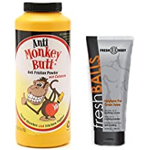 NO SWEAT BUNDLE! with Anti-Monkey Butt Powder 6 oz. and Fresh Balls Lotion 3.4 oz.