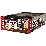 CLIF BUILDER'S - Protein Bar - Vanilla Almond Flavor - (2.4 Ounce Non-GMO Bar, 12 Count)