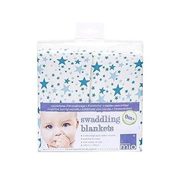 Bambino Mio Swaddling Decke Blaue Sterne - Packung mit 6