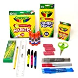 Crayola Elementary Classroom Supplies bundle 1st grade through 5th by DoodleYolk Inc.  Back to School Essentials Pack includes Only Top Brands you Trust: Elmer's, Ticonderoga, PaperMate, Bic and more
