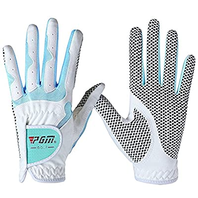 PGM Women's Golf Glove One Pair,Anti-Slip and Breathable,Bionic Gloves(blue)