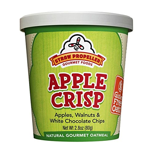 Straw Propeller Gourmet Foods Gluten Free Natural Gourmet Oatmeal, Apple Crisp, 2.8 Ounce (Pack of 12)