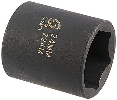 Sunex 224m 1/2-Inch Drive 24-mm Impact Socket