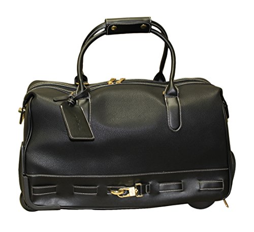 Simply Noelle Cobblestone Rolling Duffel Bag, Black by Simply Noelle