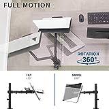 VIVO Single Laptop Notebook Desk Mount Stand