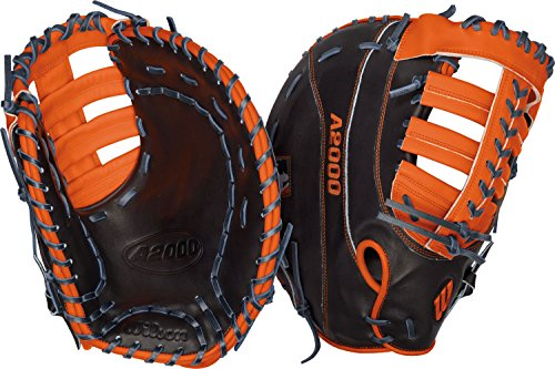 Wilson A2000 MC24 Miguel Cabrera Game Model 1st Base Baseball Glove, Navy/Orange, Left Hand Thrower