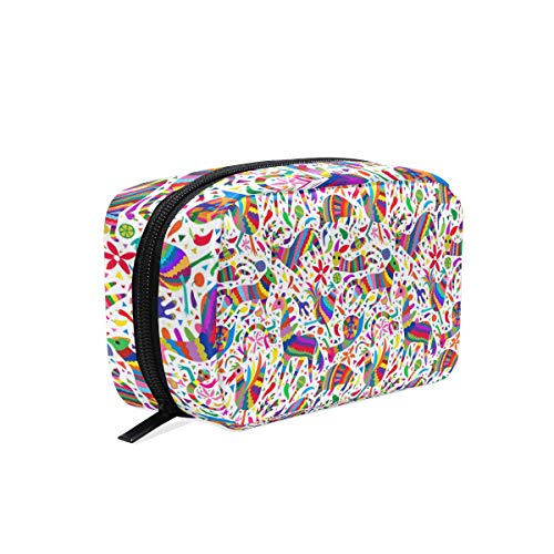 Cosmetic Bag Portable and Suitable for Travel Animal Pinata Rainbow Make Up bag with Zipper Pencil Bag Pouch Wallet ()