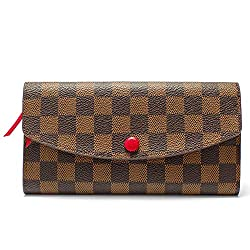 Wallets For Women Emilie Bifold Wallet Leather Large Purse Rfid Blocking With Card Holder Organizer Brown