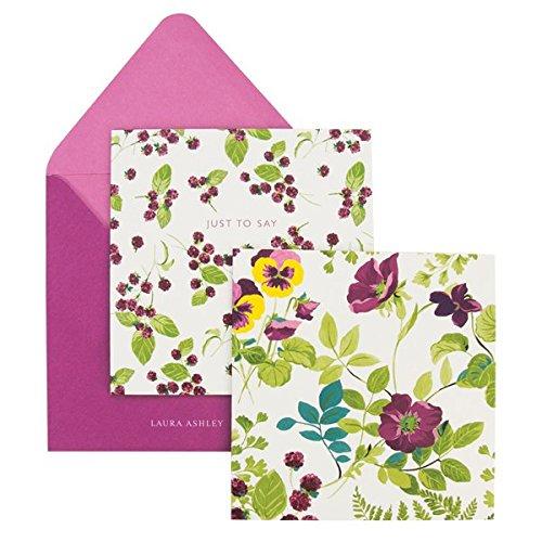 Laura Ashley Parma Violets Notecards