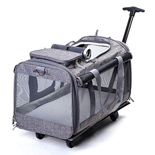 Reclain 折りたたみペットローリング荷物スピナー猫と犬スーツケースホイール 20 インチにキャリートロリーペット旅行バッグホイール 20\ グレー B07QYM4JF7