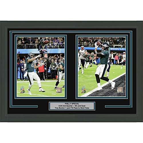 Framed Philly Special Nick Foles & Trey Burton Philadelphia Eagles Super Bowl 52 Champions Dual 8x10 Football Photo Professionally Matted