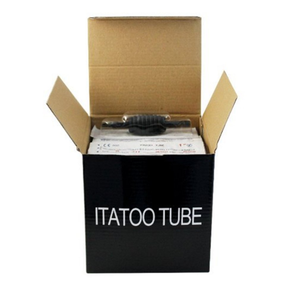 Amazon.com: ITATOO 14rl Tattoo Tubes 14 Round Tip Soft Rubber Black Disposable Tattoo Tubes with 1
