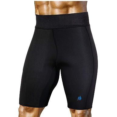 f773b61cbe5409 Männer abnehmen Sauna Hosen Hot Sweat Neopren für Gewichtsverlust  Fettverbrennung Body Shaper Sweat Capris Shorts
